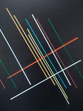 Öl Siebdruck Malerei Siebdruckplatte Andreas Mitterer 2013