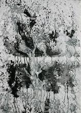 Scheinbar Baum, 2007, Tusche und Acryl auf Papier